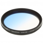 Optical Glass UV Camera Lens Filter - Graduated Blue (55mm)