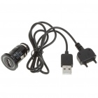 Car Cigarette Lighter Powered USB Charger w/ USB Cable for Sony Ericsson