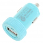 Car Cigarette Powered 1000mA USB Adapter/Charger - Blue (DC 12V/24V)