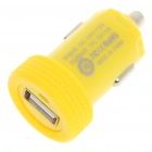 Car Cigarette Powered 1000mA USB Adapter/Charger - Yellow (DC 12V/24V)