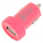 Car Cigarette Powered 1000mA USB Adapter/Charger - Red (DC 12V/24V)