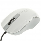 USB Wired 1000DPI Optical Mouse - White (152CM-Length)