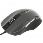 USB Wired 1000DPI Optical Mouse - Black (152CM-Length)