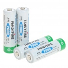 "Fandyfire Rechargeable 1.2V ""2600mAh"" Ni-MH AA Battery (Actual 2500mAh/4-Piece Pack)"
