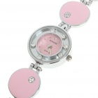 Stylish Crystal Stainless Steel Quartz Water Resistant Wrist Watch - Pink (1 x LR626)