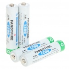 "Fandyfire Rechargeable 1.2V ""1200mAh"" Ni-MH AAA Battery (Actual 1100mAh/4-Piece Pack)"