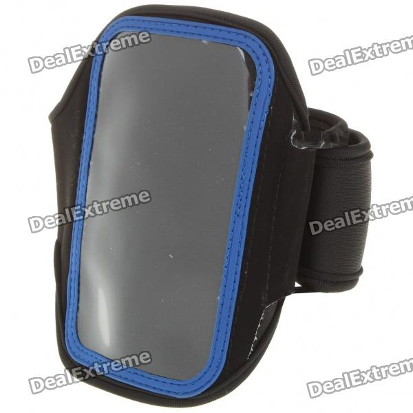 Sporty Armband for Samsung i9000/i9020 - Black + Blue adearstudio goldeneagle jinbei general 55 standard lamp cover s m cellular network jb a accessories cd50