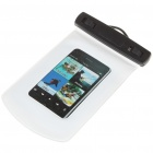 Waterproof Bag Case with Strap for Cell Phone - White