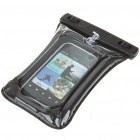 Waterproof Bag Case with Strap for Cell Phone - Black