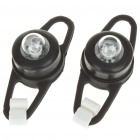 Colorful Light 2-Mode Tie-On Bike Light Keychains - Black (Pair / 2 x CR2032)
