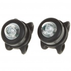 Luz Colorido 2-Mode Tie-On Chaveiros Bike Light - Preto (Par / 2 x CR2032)