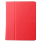 Protective Litchi Texture PU Leather Case for Apple iPad 2 - Red