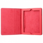 Protective Litchi Texture PU Leather Case for   Ipad 2 - Red