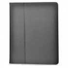 Protective Litchi Texture PU Leather Case for Apple iPad 2 - Black