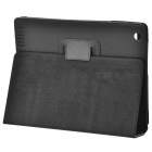 Protective Litchi Texture PU Leather Case for   Ipad 2 - Black