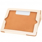Protective Litchi Texture PU Leather Case for   Ipad 2 - Beige