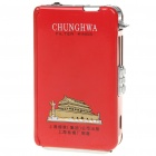 Automatic Ejection Metal Cigarette Case with Windproof Butane Jet Torch Lighter - Red (Holds 10)