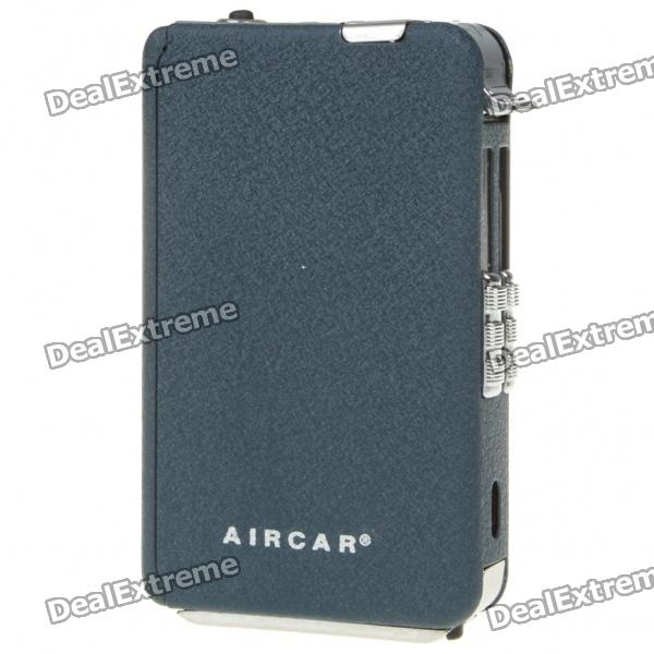 Automatic Ejection Metal Frosted Cigarette Case with Windproof Butane Jet Torch Lighter (Holds 10)