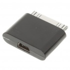 Dock 30-Pin Male to 5-Pin USB Female Adapter for Apple iPhone - Black