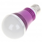 E27 5W 430-Lumen 3000-3500K Warm White LED Glühbirne - Purple (85 ~ 245V)