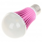 E27 5W 430-Lumen 3000-3500K Warm White LED Light Bulb - Deep Pink (85~245V)