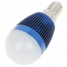 E14 3W 260-Lumen 3000-3500K Warm White LED Light Bulb - Dark Blue (85~245V)