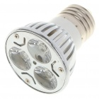 E27 3W 260-Lumen 6000-6500K White LED Light Bulb (85~245V)
