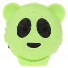 Mini Cute Panda Style USB Rechargeable MP3 Music Speaker with TF Slot - Green