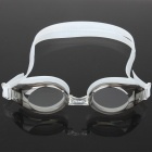 Stylish PC Lens Swimming Goggles Glasses with Carrying Box - Light Grey
