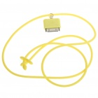 Fashion Neck Strap Connector for iPod/iPhone - Yellow (42CM-Length)