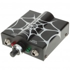Spider Web Pattern 10-Turn Tattoo Machine Power Supply Adapter Kit - Black + White