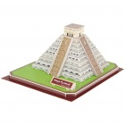 Intellectual Development DIY 3D Paper Puzzle Set - Mayan Pyramid