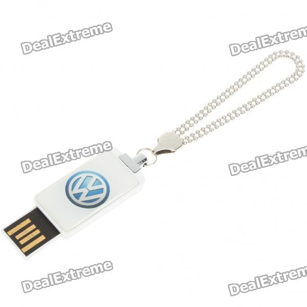 Compact Car Brand Logo USB Flash/Jump Drive with Metal Chain - Volkswagen (16GB)
