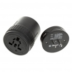 Universal USB Travel AC Power Adapter/Charger (Black)