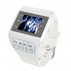 "1.33"" Touch Screen Wrist Watch Style Dual SIM Dual Network Standby Quadband GSM Cell Phone - White"