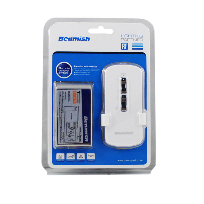 by a7e wireless remote control light switch silver. Black Bedroom Furniture Sets. Home Design Ideas