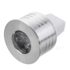 MR11 1W 1-LED Slot Aluminum Ceiling/Spot Lamp Bulb Shell - Silver + White