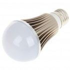 E27 5W 5-LED Slots Aluminum Bulb Shell - Grey + White