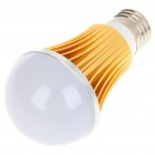 E27 5W 5-LED Slots Aluminum Bulb Shell - Golden + White