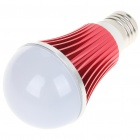 E27 5W 5-LED Slots Aluminum Bulb Shell - Red + White