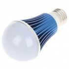 E27 5W 5-LED Slots Aluminum Bulb Shell - Blue + White