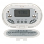 "1"" LCD Clip-on Pedometer with Body Fat Analyzer - White (1 x CR2032)"