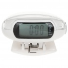 1&quot; LCD Clip-on Pedometer with FM &amp; Body Fat Analyzer - White (2 x LR44)