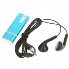 USB Rechargeable Mini Screen-Free Clip Voice Recorder w/ MP3 Player - Blue (4GB)