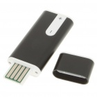 USB Rechargeable Mini Screen-Free Clip Voice Recorder w/ MP3 Player - Black (2GB)