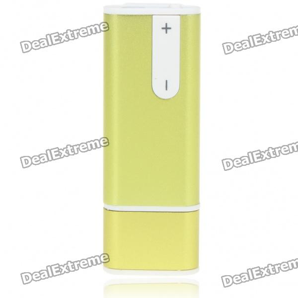 USB Rechargeable Mini Screen-Free Clip Voice Recorder w/ MP3 Player - Green (4GB)