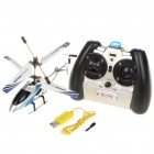S105G Rechargeable 3-CH R/C Helicopter w/ Gyroscope - White + Blue (IR Remote/6 x AA)