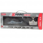 S108G Rechargeable 3-CH R/C Helicopter w/ Gyroscope - Black + Grey (IR Remote/6 x AA)