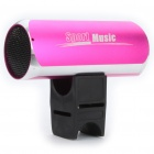 Stylish USB Rechargeable Sports Hi-Fi MP3 Player Speaker w/ FM/TF/3.5mm Audio Jack - Pink