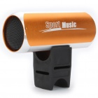 Stylish USB Rechargeable Sports Hi-Fi MP3 Player Speaker w/ FM/TF/3.5mm Audio Jack - Orange